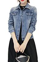 Недорогие -Жен. Джинсовая куртка Классический - Современный стиль