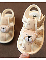 cheap -Boys' / Girls' Shoes Cotton Summer First Walkers Sandals Magic Tape for Baby Yellow / Red