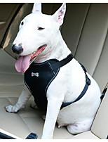 cheap -Dogs / Cats Car Seat Harness / Safety Harness Portable / Adjustable / Retractable / Soft Color Block Mesh Black