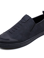 cheap -Men's Shoes PU(Polyurethane) Spring / Summer Comfort Loafers & Slip-Ons Black / Gray