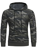 cheap -Men's Military Hoodie - Camouflage, Print