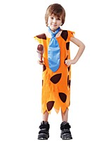 cheap -Primitive Costume Boys' Halloween Carnival Children's Day Festival / Holiday Halloween Costumes Outfits Yellow Solid Colored Halloween Halloween