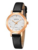 cheap -Geneva Women's Wrist Watch Quartz New Design Casual Watch Cool Leather Band Analog Casual Fashion Black / Brown / Pink - Pink Black / White White / Brown One Year Battery Life