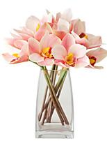 Недорогие -Искусственные Цветы 4.0 Филиал Классический Стиль / европейский Орхидеи Букеты на стол