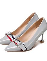Недорогие -Жен. Обувь Лакированная кожа Осень Туфли лодочки Обувь на каблуках На шпильке Серый / Розовый / Миндальный