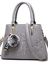 cheap -Women's Bags PU(Polyurethane) Shoulder Bag Pom-pom Gray / Purple / Yellow