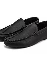 abordables -Homme Chaussures Polyuréthane Automne Moccasin Mocassins et Chaussons+D6148 Noir / Marron / Vin