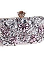 Недорогие -Жен. Мешки Полиэстер Вечерняя сумочка Кристаллы Розовый