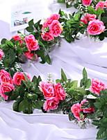 Недорогие -Искусственные Цветы 1 Филиал Односпальный комплект (Ш 150 x Д 200 см) Стиль Розы Цветы на стену