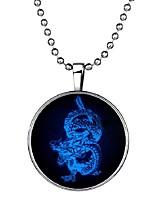 Недорогие -Муж. Светящийся камень Длиные Ожерелья с подвесками - Дракон Винтаж, Этнический, Мода Синий 60 cm Ожерелье 1шт Назначение Halloween, Для клуба