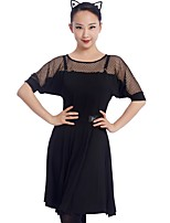 cheap -Latin Dance Dresses Women's Training Modal Split Joint Short Sleeve Natural Dress