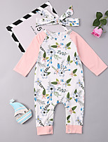 abordables -Bebé Chica Floral Manga Larga Una Pieza