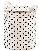 cheap -Cotton / Polyster Round Cute Home Organization, 1pc Laundry Bag & Basket