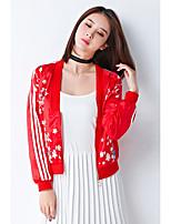 Недорогие -Жен. Кожаные куртки Активный - Цветочные / ботанический