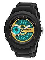 cheap -SANDA Men's Sport Watch / Digital Watch Japanese Calendar / date / day / Water Resistant / Water Proof / Stopwatch Silicone Band Luxury / Fashion Black