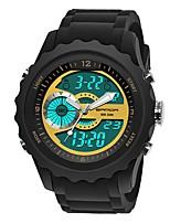 Недорогие -SANDA Муж. Спортивные часы / электронные часы Японский Календарь / Защита от влаги / Хронометр силиконовый Группа Роскошь / Мода Черный