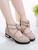 cheap -Girls' Shoes PU(Polyurethane) Spring & Summer Comfort / Flower Girl Shoes Flats Walking Shoes Flower / Magic Tape for Teenager Beige / Green / Pink