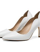 Недорогие -Жен. Обувь Наппа Leather Лето Удобная обувь Обувь на каблуках На шпильке Белый / Черный