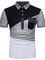 abordables -Hombre Polo Bloques Blanco y Negro