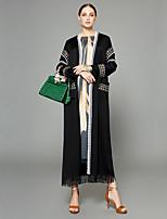 abordables -Abaya Femme - Couleur Pleine / Créatif / Broderie crewel Bohème / Sophistiqué Glands / énorme / Jacquard