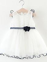 Недорогие -малыш Девочки Геометрический принт Без рукавов Платье