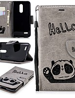 cheap -Case For LG K10 2018 Wallet / Card Holder / with Stand Full Body Cases Panda Hard PU Leather for LG K10 2018