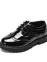 cheap -Girls' Shoes PU(Polyurethane) Fall & Winter Comfort Oxfords Ribbon Tie / Lace-up for Kids Black