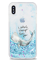 baratos -Capinha Para Apple iPhone X / iPhone 8 Plus Liquido Flutuante / Estampada Capa traseira Animal / Desenho Animado / Glitter Brilhante Rígida TPU / PC para iPhone X / iPhone 8 Plus / iPhone 8