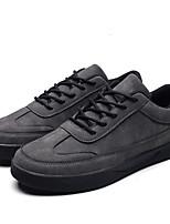 cheap -Men's Suede Spring / Fall Comfort Sneakers Black / Gray / Brown