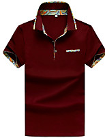 cheap -Men's Polo - Solid Colored Patchwork