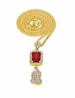 preiswerte -Herrn Kubikzirkonia Vintage Stil Anhängerketten / Lange Halskette - Hoffnung Erklärung, Europäisch Gold 60 cm Modische Halsketten 1pc Für Klub, Bar