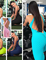 cheap -Women's Open Back Jumpsuit - Green, Blue, Pink Sports Bubble Tights / Leggings Yoga, Exercise & Fitness, Gym Activewear Quick Dry, Breathable, Sweat Out High Elasticity Removable Padding