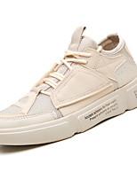 cheap -Men's Mesh Fall Comfort Sneakers Color Block White / Black / Beige