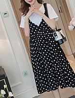 cheap -Women's Basic Set - Polka Dot Dress