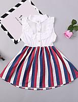 cheap -Kids / Toddler Girls' Striped Sleeveless Dress