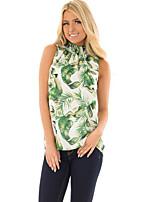 cheap -Women's Basic T-shirt - Floral Print