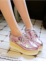 cheap -Women's Shoes Patent Leather Spring / Summer Comfort Sneakers Creepers Round Toe Gold / Silver / Pink