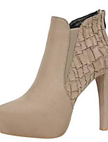 cheap -Women's Shoes Suede Fall & Winter Bootie Boots Stiletto Heel Pointed Toe Booties / Ankle Boots Black / Khaki