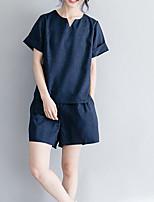 abordables -Mujer Conjunto - Un Color Pantalón