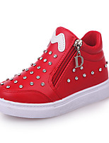 cheap -Girls' Shoes PU(Polyurethane) Spring & Summer Comfort Sneakers Walking Shoes Sparkling Glitter for Kids White / Black / Red / Booties / Ankle Boots