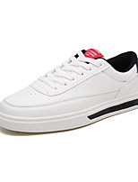 cheap -Men's PU(Polyurethane) Summer Comfort Sneakers Color Block White / Red / Black / White
