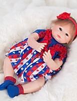 Недорогие -OtardDolls Куклы реборн Девочки 18 дюймовый как живой, Ручные прикладные ресницы, Искусственные имплантации Голубые глаза Детские Девочки Подарок / Естественный тон кожи / Головка дискеты