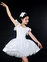 abordables -Danse classique Robes Femme Utilisation Spandex / Tulle Ruché Sans Manches Robe