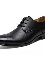 Недорогие -Муж. Полиуретан Лето Удобная обувь Туфли на шнуровке Белый / Черный / Коричневый