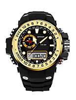 cheap -SANDA Men's Sport Watch Digital Watch Japanese Digital 30 m Water Resistant / Water Proof Calendar / date / day New Design Rubber Band Analog-Digital Luxury Fashion Black - Red Blue Golden