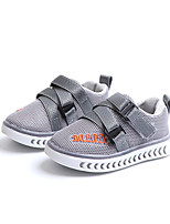 cheap -Girls' Shoes Mesh / PU(Polyurethane) Spring & Summer Comfort Sneakers Walking Shoes Magic Tape for Teenager Black / Gray / Pink