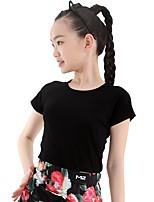 abordables -Baile Latino Tops Mujer / Chica Entrenamiento Modal Combinación Manga Corta Cintura Media Top