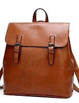 cheap -Women's Bags PU(Polyurethane) Backpack Zipper Black / Coffee / Wine