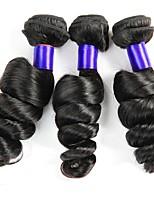 Недорогие -3 Связки Малазийские волосы Свободные волны Натуральные волосы Человека ткет Волосы / Сувениры для чаепития / One Pack Solution 8-28 дюймовый Ткет человеческих волос / Мода