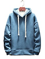 cheap -Men's Basic Hoodie - Solid Colored / Letter, Print